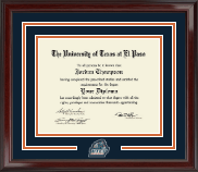 University of Texas at El Paso Diploma Frame - Spirit Medallion Diploma Frame in Encore