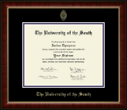 The University of the South Diploma Frame - Gold Embossed Diploma Frame in Murano