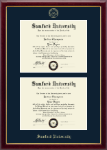 Samford University Diploma Frame - Double Diploma Frame in Gallery