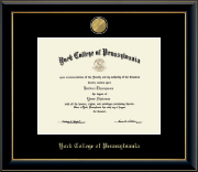 York College of Pennsylvania Diploma Frame - 23 Medallion Diploma Frame in Onyx Gold