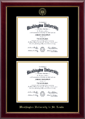 Washington University in St. Louis Diploma Frame - Double Diploma Frame in Gallery