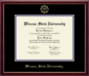 Winona State University Diploma Frame - Gold Embossed Diploma Frame in Galleria