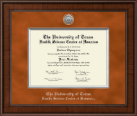 University of Texas Health Science Center at Houston Diploma Frame - Presidential Silver Engraved Diploma Frame in Madison