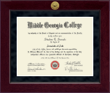 Middle Georgia College Diploma Frame - Millennium Gold Engraved Diploma Frame in Cordova