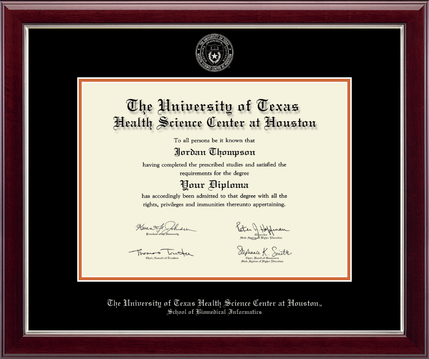 University of Texas Health Science Center at Houston Silver Embossed ...