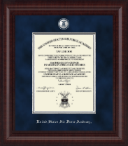 United States Air Force Academy Diploma Frame - Presidential Masterpiece Diploma Frame in Premier