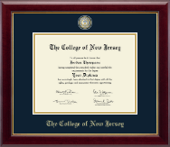 The College of New Jersey Diploma Frame - Masterpiece Medallion Diploma Frame in Gallery