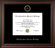 Northeastern Junior College Diploma Frame - Gold Embossed Diploma Frame in Studio