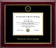Northeastern Junior College Diploma Frame - Gold Embossed Diploma Frame in Gallery
