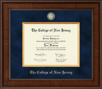 The College of New Jersey Diploma Frame - Presidential Masterpiece Diploma Frame in Madison