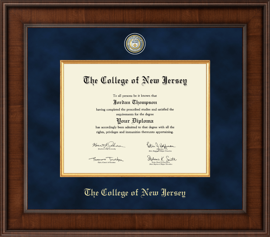 The College Of New Jersey Diploma Frame