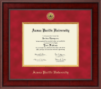 Azusa Pacific University Diploma Frame - Presidential Gold Engraved Diploma Frame in Jefferson