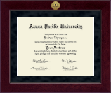 Azusa Pacific University Diploma Frame - Millennium Gold Engraved Diploma Frame in Cordova