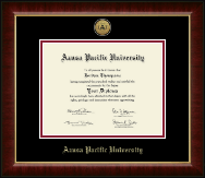 Azusa Pacific University Diploma Frame - Gold Engraved Medallion Diploma Frame in Murano
