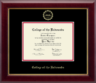 College of the Redwoods Diploma Frame - Gold Embossed Diploma Frame in Gallery