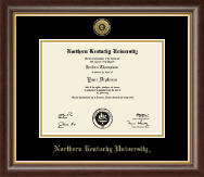 Northern Kentucky University Diploma Frame - Gold Engraved Medallion Diploma Frame in Hampshire