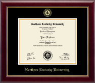 Northern Kentucky University Diploma Frame - Gold Embossed Diploma Frame in Gallery