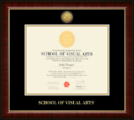 School of Visual Arts Diploma Frame - Gold Engraved Medallion Diploma Frame in Murano