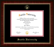 Seattle University Diploma Frame - Gold Embossed Diploma Frame in Murano