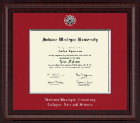 Indiana Wesleyan University  Diploma Frame - Presidential Silver Engraved Diploma Frame in Premier