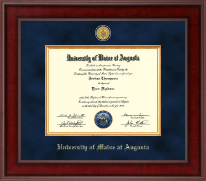 University of Maine at Augusta Diploma Frame - Presidential 23K Medallion Diploma Frame in Jefferson