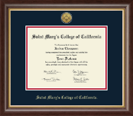 Saint Mary's College of California Diploma Frame - Gold Engraved Medallion Diploma Frame in Hampshire