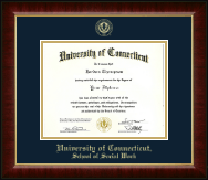 University of Connecticut School of Social Work Diploma Frame - Gold Embossed Diploma Frame in Murano