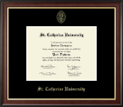 St. Catherine University Diploma Frame - Gold Embossed Diploma Frame in Studio Gold