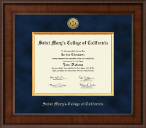 Saint Mary's College of California Diploma Frame - Presidential Gold Engraved Diploma Frame in Madison
