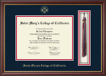 Saint Mary's College of California Diploma Frame - Tassel Edition Diploma Frame in Newport