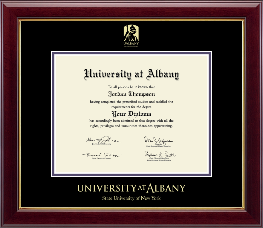 University At Albany State Of New York Gold Embossed Diploma Frame In Gallery