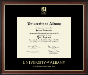 University at Albany State University of New York Diploma Frame - Gold Embossed Diploma Frame in Studio Gold