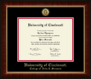 University of Cincinnati Diploma Frame - Gold Engraved Medallion Diploma Frame in Murano