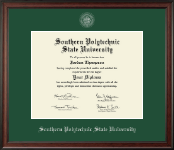 Southern Polytechnic State University Diploma Frame - Silver Embossed Diploma Frame in Studio