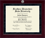 Southern Polytechnic State University Diploma Frame - Millennium Silver Engraved Diploma Frame in Cordova