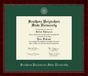 Southern Polytechnic State University Diploma Frame - Silver Embossed Diploma Frame in Sutton