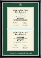 Southern Polytechnic State University Diploma Frame - Double Document Diploma Frame in Onyx Silver