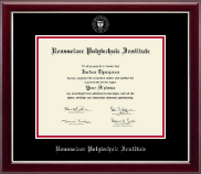 Rensselaer Polytechnic Institute Diploma Frame - Silver Embossed Diploma Frame in Gallery Silver