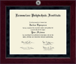 Rensselaer Polytechnic Institute Diploma Frame - Millennium Silver Engraved Diploma Frame in Cordova