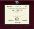 Trinity Christian College Diploma Frame - Century Silver Engraved Diploma Frame in Cordova