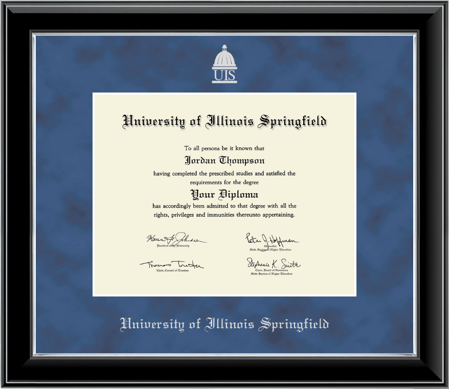 Beautiful University Of Illinois Diploma Frame Ensign - Custom ...