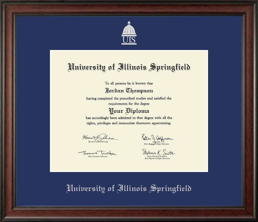 University of Illinois Springfield Silver Embossed Diploma Frame in ...