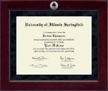 University of Illinois Springfield Diploma Frame - Millennium Silver Engraved Diploma Frame in Cordova