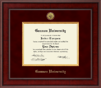 Gannon University Diploma Frame - Presidential Gold Engraved Diploma Frame in Jefferson