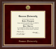Gannon University Diploma Frame - Gold Engraved Medallion Diploma Frame in Hampshire
