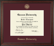 Gannon University Diploma Frame - Gold Embossed Diploma Frame in Studio