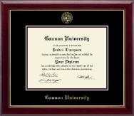 Gannon University Diploma Frame - Gold Embossed Diploma Frame in Gallery