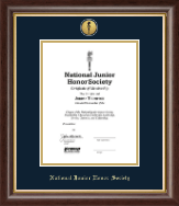 National Junior Honor Society Certificate Frame - Gold Engraved Medallion Certificate Frame in Hampshire