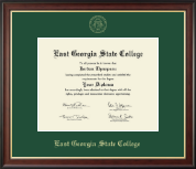 East Georgia State College Diploma Frame - Gold Embossed Diploma Frame in Studio Gold