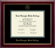 East Georgia State College Diploma Frame - Gold Embossed Diploma Frame in Gallery